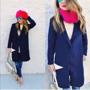 Pink FAUX Fur Collar and Hat